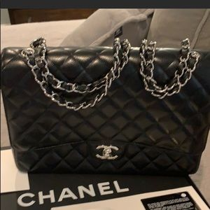 Chanel classic caviar maxi with shw